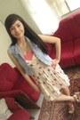 Beige-floral-wrinkled-corsets-republique-dress
