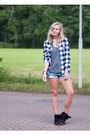 Blue-persunmall-shorts-black-ebay-sneakers-black-sheinside-blouse