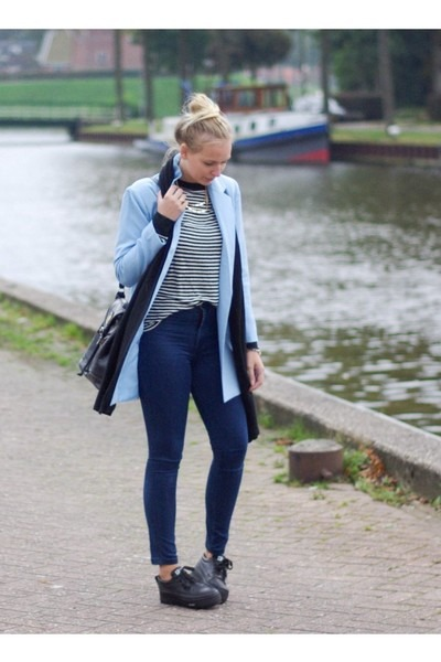 tidebuy blazer - PERSUNMALL jeans - Frontrowshop shirt - tidebuy necklace