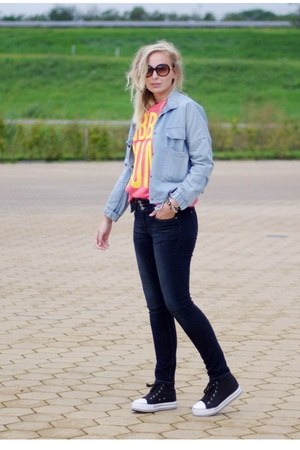 Yesstyle jeans - abaday jacket - Yesstyle sweater - Nelly sneakers