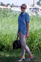 vintage bag - H&M pants - Yesstyle sneakers - indressme blouse