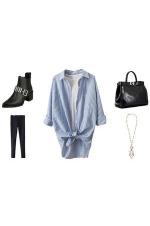 Choies boots - Choies jeans - Choies shirt - Choies bag - Choies necklace