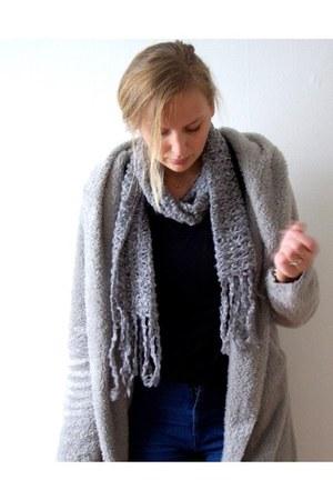 Martofchina cardigan - PERSUNMALL jeans - Hema shirt - Choies scarf