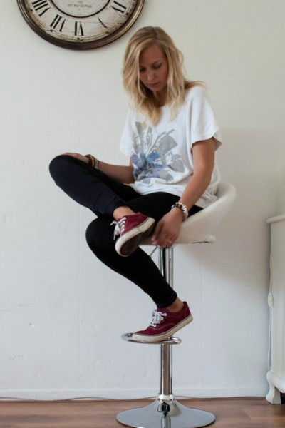 Primark shoes - pieces leggings - vintage top