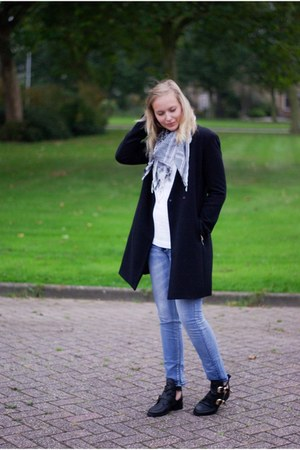 Choies boots - PERSUNMALL coat - Yesstyle jeans - vintage sweater - old scarf