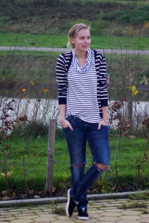 PERSUNMALL cardigan - oh my god jeans - Choies sweater - Ebay sneakers