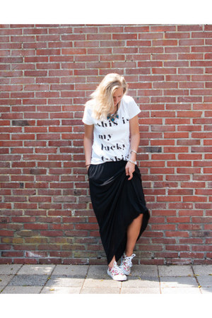 Vila top - H&M dress - Sevenbien sneakers