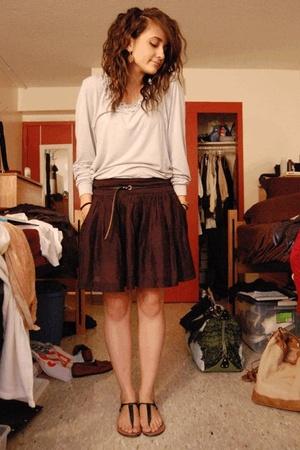 Express skirt - Goodwill Target shirt - Gap belt - Steve Madden shoes