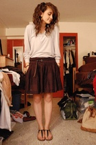 Express skirt - Goodwill Target shirt - Gap belt - Steve Madden shoes