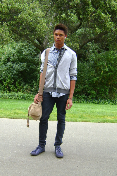 jeans - sweater - shirt - accessories - shoes - tie