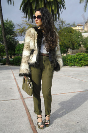 lanvin for HM coat - tintoretto bag - Stradivarius pants - Topshop sandals