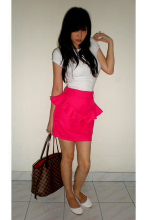 pink random skirt - white the little thing she needs shoes