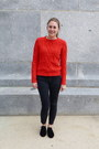 Black-modcloth-shoes-red-gap-sweater-charcoal-gray-jcrew-factory-pants