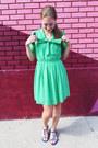 Green-polka-dot-forever-21-dress-blue-modcloth-sandals