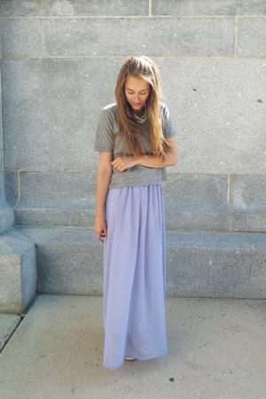light purple modcloth dress - heather gray madewell t-shirt