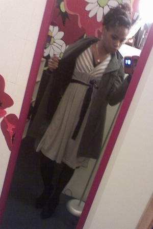 Charlotte Russe shoes - tights - Burlington coat factory dress - Rue 21 coat - R