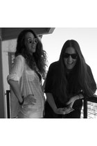 mishka shoes - paula cahen danvers jeans - H&M leggings - Ray Ban sunglasses