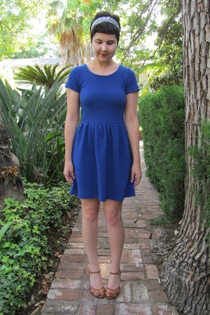 blue Anthropologie dress - sky blue Urban Outfitters headband accessories