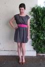 Teal-be-bop-dress-hot-pink-thrifted-belt-tawny-miz-mooz-flats