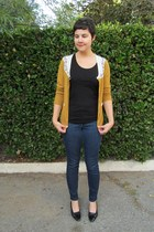 bronze Retro Girl cardigan - navy CJ by Cookie Johnson jeans
