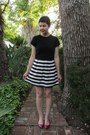 White-dorothy-perkins-skirt-black-thrifted-theme-sweater-ruby-red-aldo-flats