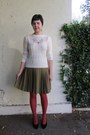 Cream-thrifted-vintage-sweater-burnt-orange-target-tights