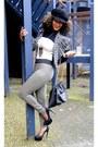 Beige-2nu-bodysuit-dark-khaki-next-pants-black-2nu-heels