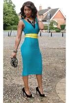 asos dress - H&M belt