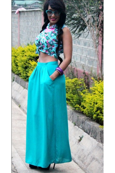 new look skirt - 2NU top - 2NU heels