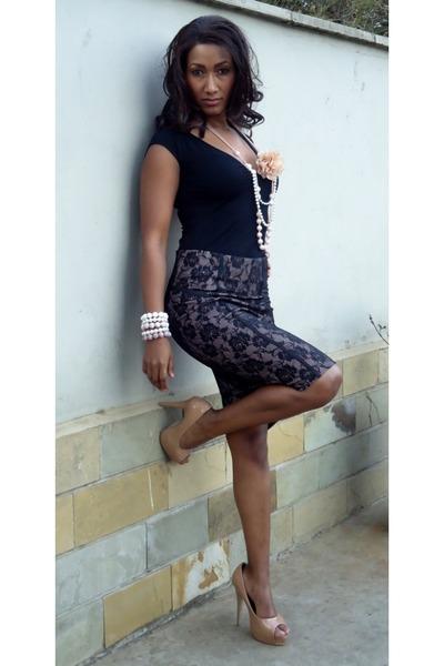 nude 2NU skirt - black 2NU top