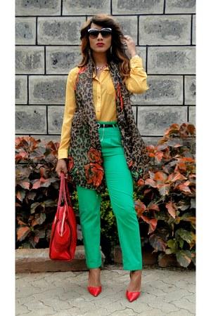 2NU top - 2NU pants - Zara heels