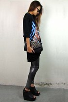 black 2amstyles purse - silver glitter tights 2amstyles leggings