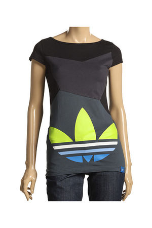 gray Adidas Originals t-shirt