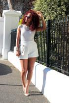 textured asoscom shorts - mesh asoscom top