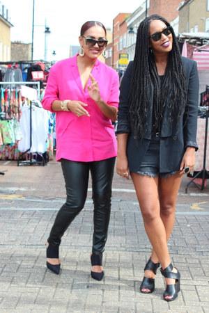 Zara blazer - H&M shorts - Topshop heels