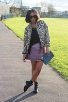 Topshop boots - Topshop jacket - Topshop bag - Topshop skirt - Monki t-shirt