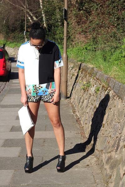 Zara bag - Primark shorts - Topshop heels - River Island top