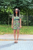 asos dress - asos sunglasses - Zara heels
