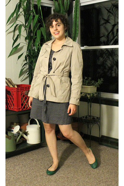 talbots jacket - Old Navy dress - J Crew flats