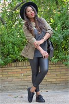 dark khaki Sfera jacket - black Zara leggings