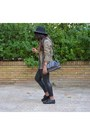 Dark-khaki-sfera-jacket-black-zara-leggings