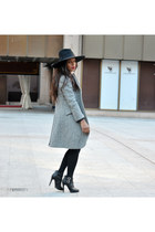 charcoal gray Zara coat