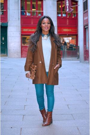 dark brown vintage coat