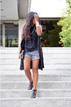 black united colors of benetton vest - silver Sfera shorts