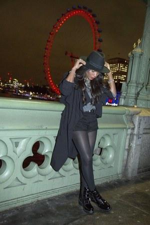black H&M hat - black H&M cardigan