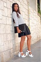 black Mulaya dress - white Vas sandals