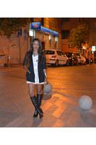 white H&M dress - black D&G blazer