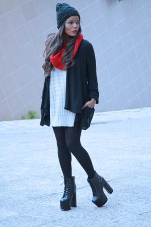 black Zara cardigan