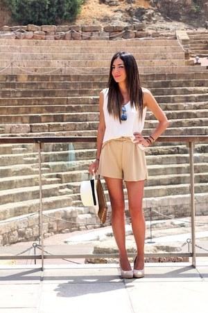 cream vintage shorts