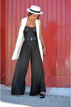 black Zara pants - white H&M vest